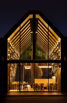 The Restaurant&Bar Design Awards is an international competition awarding food and beverage spaces. The jury is composed by important design personalities. Bar Restaurant Design, Restaurant Exterior Design, Restaurant Facade, Exterior Signage, Bar Design Awards, Interior Design Awards, Melbourne Architecture, Facade Architecture, Architecture Interiors