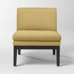 Slipper Chair, Performance Velvet, Dandelion