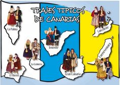 Traditional dresses from the Canary Islands -- Trajes tradicionales de las Islas Canarias Canary Islands, Tenerife, Ibiza, Butterfly, Baseball Cards, Fictional Characters, Google, Folk Costume, Mayo