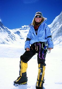 Susan Ershler in the Western Cwm of Mt. Everest, between Camp1and2.