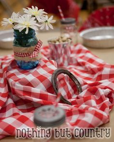 Table Decor - Western / Cowboy Cub Scout Blue & Gold Banquet | NothingButCountry.com