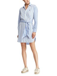 Polo Ralph Lauren Striped Cotton Shirtdress - Polo Ralph Lauren Short  - Ralph Lauren Germany