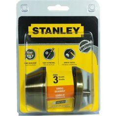 STANLEY SINGLE CYLINDER DEADBOLT AB-S836056