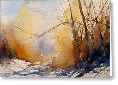 Winter Trees Greeting Card by Sandra Strohschein