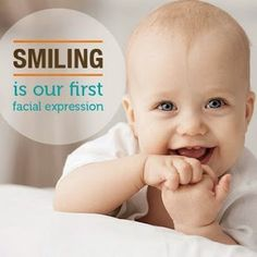 Smiling is our first impression. Although we don't know what smiling means at the time, babies can actually start smiling in the womb!