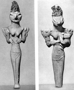 figuritas mujer lagarto preSumeria  5000aC