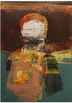 Henry Jackson - Untitled ( 2014 Oil, Cold Wax, Dry Pigment, Oil Bar & Collage On Panel 27 in x 19 in Abstract Portrait, Abstract Art, Portrait Art, Abstract Expressionism, Figure Painting, Painting & Drawing, Henry Jackson, Art Of Dan, Creative Poster Design