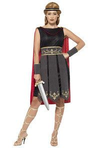 Roman Warrior Costume - Roman Gladiator Adults Fancy Dress Men & Womens His Hers Fancy Dress Ball, Adult Fancy Dress, Ladies Fancy Dress, Fancy Dress Outfits, Gladiator Costumes, Great Costume Ideas, Roman Warriors, Thing 1, Frack