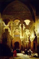 """The Interior of the Mosque, Cordoba"" David Roberts, 1838 Oil on canvas Museo Nacional del Prado, Madrid"