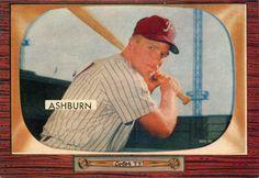 1955 Bowman Richie Ashburn Phillies baseball card