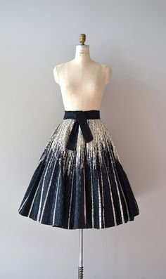 1950s skirt / metallic / Shadows and Light skirt by DearGolden