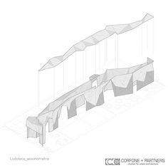 CORFONE+PARTNERS - Axonometric view - LUDOTECA GROTTA INCANTATA