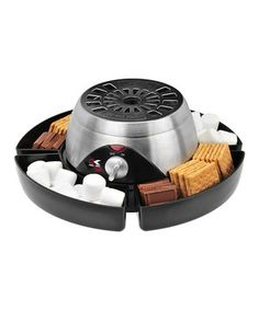 Bring the campfire inside with the help of the s'mores maker. Surrounded by four food supplies storage trays, the stainless steel electric heater provides a safe, knob-controlled warmer for toasting marshmallows. The accompanying stainless steel forks mean there's enough room for four.
