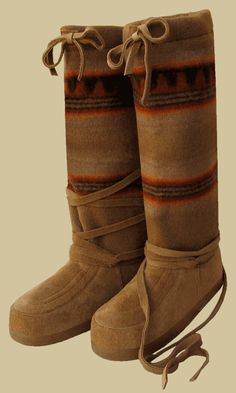 Steger Mukluks are the most comfortable boots...and I need these blanket-top ones...