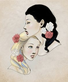 Snow White and Rose Red by ~wrenling27 on deviantART