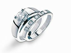 Inset Diamond Rings Bvlgari The Marry Me Platinum Gold Engagement