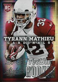 2013 Absolute Spectrum Cardinals Tyrann Mathieu Rookie Card 16/99