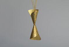 Violetta Elisa Seliger. Necklace. Fine silver gold plated.