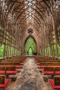 Chapel in the Woods by W. Brian Duncan ~  Mildred B. Cooper Memorial Chapel in Bella Vista, Arkansas by renowned Arkansas architect Euine Fay Jones, a student of Frank Lloyd Wright.