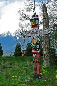 Totem poles at Stanley Park, Vancouver, Canada