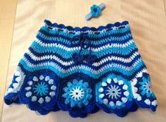 Beautiful blue crochet skirt