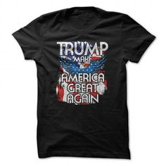 Awesome Tee 2016 Donald Trump American Flag and Eagle Tshirt Shirts & Tees