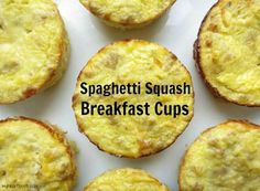 Spaghetti Squash Breakfast Cups + Giveaway - My Heart Beets paleo breakfast eggs Primal Recipes, Low Carb Recipes, Whole Food Recipes, Cooking Recipes, Bread Recipes, Muffin Recipes, Diabetic Recipes, Brunch Recipes, Soup Recipes