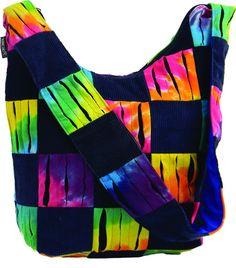 Tie Dye & Corduroy Bucket Bag