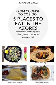 5 Restaurants in Sao Miguel Island (Azores, Portugal) you need to visit and what to order for a taste of classic Azorean cuisine. Suitcase Six Travels.