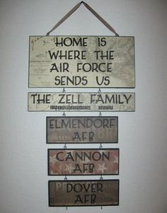 Home is where the military sends us sign