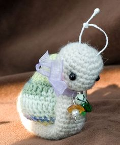 ~Barley~ Amigurumi Snail by cindysickler, via Flickr