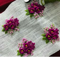 Ways To Get Resourceful Jewellery Creating Ideas – By Zazok Hand Embroidery Patterns Flowers, Basic Embroidery Stitches, Hand Embroidery Videos, Embroidery On Clothes, Hand Work Embroidery, Embroidery Flowers Pattern, Flower Embroidery Designs, Creative Embroidery, Simple Embroidery