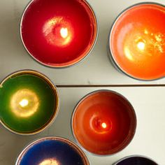 Easy citronella candle craft:      Decorate your deck or patio and keep the bugs away with this fun and easy-to-make citronella candle craft.(via Canadian Living)