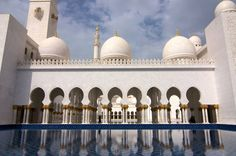 Sheikh Zayed Grand Mosque, Abu Dhabi, United Arab Emirates: This is the largest mosque in the United Arab Emirates and the eighth largest mosque in the world. It was constructed between 1996 and 2007, and is the country's key place of worship. | www.eklectica.in