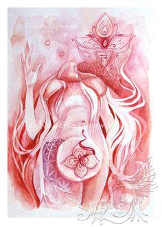 °Red Root Chakra Goddess 'Muladhara' by SoulBirdArt