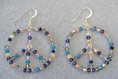 Sterling Silver  Peace Earrings #2401