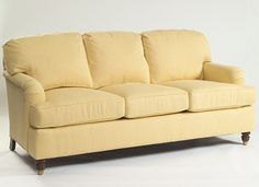 Class Home Sofa in the fabric Club in the color Buttercup.  Calico Corners  7-10-14