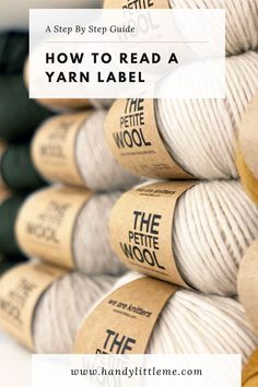 How to read a yarn label. Learn what yarn labels say and what to look for when choosing yarn for your projects. This is a step-by-step guide for anyone who is new to knitting or crochet. #knitting #yarnlabels #yarn #beginnerknitter Knit Stitches For Beginners, Crochet Stitches Free, Knitting Basics, Knitting Tutorials, Knitting Charts, Crochet Basics, Crochet For Beginners, Knit Or Crochet, Knitting Designs
