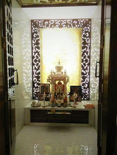 Rajeshekar Residence by Geometrixs Architects & Engineers, Interior Designer in Bangalore ,Karnataka, India Room Decor Bedroom, Living Room Decor, Home Interior, Interior Design, Luxury Interior, Temple Design For Home, Mandir Design, Pooja Room Door Design, Indian Interiors