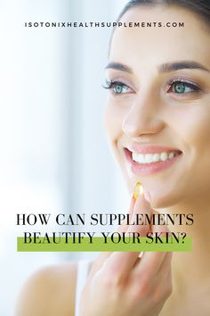 How can supplements beautify your skin? Antioxidant Supplements, Fitness Facts, Vitamins For Skin, Cellular Level, Prevent Wrinkles, Health Tips, Women's Health, Self Care Routine, Healthy Living Tips