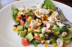 Fiesta Ranch Vinaigrette Spinach Salad