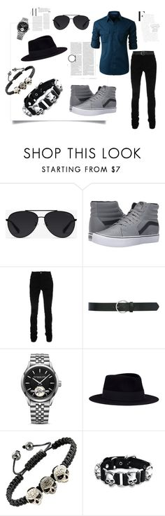 """Outfit for Pete"" by hannahzoe1 ❤ liked on Polyvore featuring Bally, Vans, AMIRI, M&Co, Raymond Weil, Maison Michel, Bling Jewelry, Olsen, LE3NO and men's fashion"
