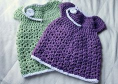 New Baby Crocheted Spring Dress FREE pattern.