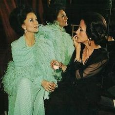 Jacqueline de Ribes and Gloria Guinness