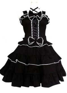 Black And White Gothic Lolita Cosplay Dress on sale, a perfect Cosplay Costumes with high quality and nice design. Buy it now or discover your Cosplay Costumes http://goo.gl/EiE0g