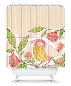 Take a look at this Little Bird On A Flowery Branch Cori Dantini Shower Curtain by DENY Designs on #zulily today!