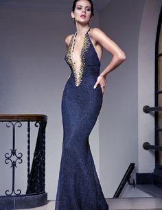 Baccio Alba Painted Long Dress