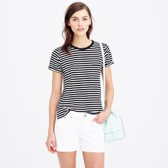 Oversized rules ... Rolled-sleeve pocket tee in stripe : short-sleeve tees | J.Crew