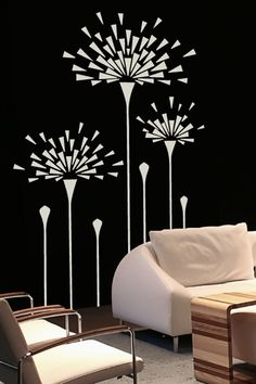 """""""Dandelion Cycle"""" Wall Decal by WALLTAT.com will modernize your decor in minutes!"""