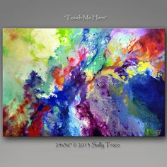 Abstract Giclee Gallery Wrap 24x36 inches TOUCH ME by sallytrace, $99.00